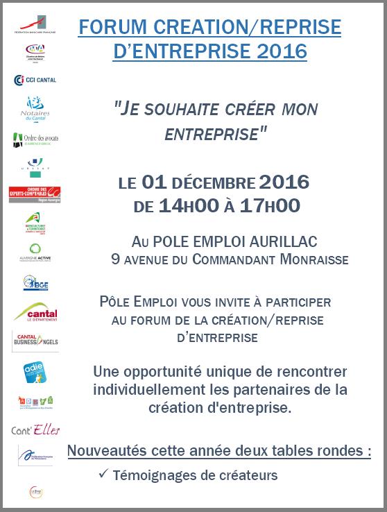 Forum de la création du pôle emploi d'Aurillac